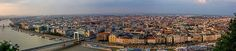 A panorama shot of the capital city of Hungary, Budapest. The photograph was taken during a beautiful sunset. Travel photography. #budapest #europe #travel #panorama #photography #sunset #hungary