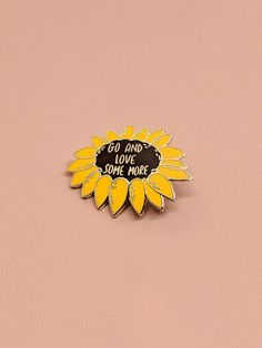 Sunflower Enamel Pin Harold and Maude Inspired Hard Enamel Bag Pins, Glassine Envelopes, Jacket Pins, Pins And Needles, Sunflower Design, Metal Pins, Pin And Patches, Cute Pins, Pin Badges