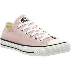Converse All Star Low ($32) ❤ liked on Polyvore featuring shoes, sneakers, converse, trainers, hers trainers, rose pastel patent, low top shoes, converse trainers, low top sneakers and rose pink shoes