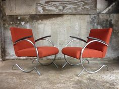 Jan Schrofer for the firm; De Cirkel 1935 easy chairs.
