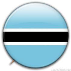 Botswana flag badge