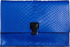 Proenza Schouler Small Lunch Bag Clutch Python on shopstyle.com