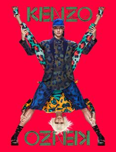 Jester White and Ming Xi by Jean Paul Goude for Kenzo Spring/Summer 2013 Campaign