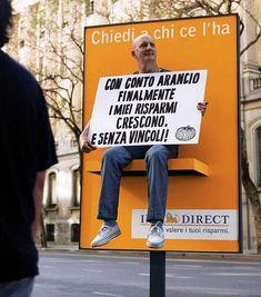 Ing direct human billboard #uaucommunication #clubmc