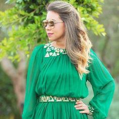 Latergram  beautiful moroccan Dress from @Hb_caftan #picoftheday #moroccandesign #style #beautiful #green #colour #myfavourite #chic #instalike #beautiful #caftan #fashionista #handmade #instastyle  Tap for details