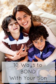 Got boys? Here are 10 Ways to Bond With Your Son help you to build a strong relationship with them as they get older. Moms of boys share their Advice, tips and tricks on what they do to bond with their boys.