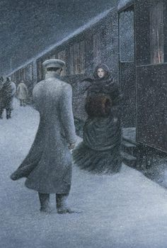 Angela Barrett illustrates the Folio edition of Anna Karenina