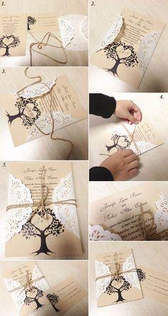 (árvore)arte pro convite em papel foto