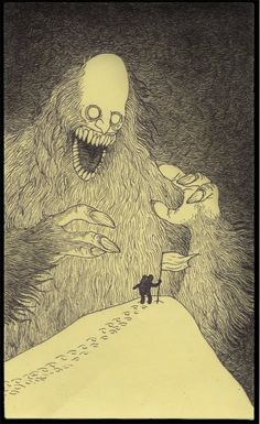Wonderfully creepy monsters by Don Kenn drawn entirely on post-its. (Click the link for the rest of the series.)