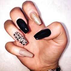 Red And Black Nail Designs Pictures. Some people may believe of beauty accessories as being cosmetics and hairstyles; however nail art add-ons can be added to this number as well for adding to your wh Aycrlic Nails, Nails Polish, Cute Nails, Coffin Nails, Nail Designs Pictures, Black Nail Designs, Leopard Nail Designs, Leopard Print Nails, Paw Print Nails