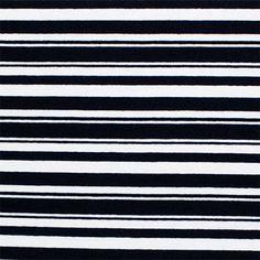 Black Variegated Stripe Cotton Spandex Knit Fabric :: $6.50