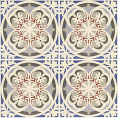 [Abbey Fountains floor tiles, from Fired Earth]