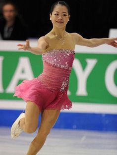 Akiko Suziki -Pink Figure Skating / Ice Skating dress inspiration for Sk8 Gr8 Designs.