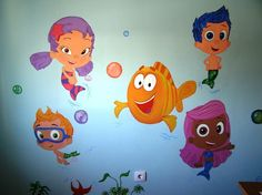 Bubble Guppies on the walls!