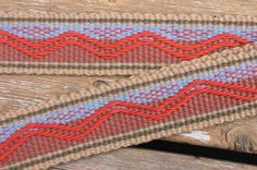 Sandia Mountains Mandolin Strap - Custom woven by Annie MacHale from a landscape photo