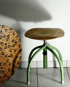 Industrial Furniture, Upcycle, Stool, Recycling, Vintage, Home Decor, Decoration Home, Upcycling, Room Decor