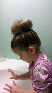A baby sock bun?! Shut up! Cutest thing ever. Must see if baby Brooklynn will let me try this on her!