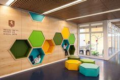 Awesome school in Israel with playful interior: