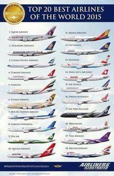 Top 20 Best Airlines of the World More Find the cheapest flight tickets from all over the world. Sud Aviation, Civil Aviation, Best Airlines, United Airlines, Airline Logo, Passenger Aircraft, Commercial Aircraft, Travelling Tips, Traveling