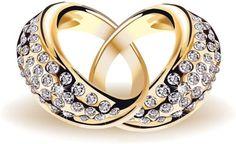 precious wedding ring 01 vector