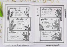 Bujo Frames, botanical Bujo, Bullet Journal, Inspiration, Idea, Ideen, Bullet Journal Layout, Planner, Weekly, Weeklyspread, Bujoweekly, Wochenübersicht, Calender, Kalender, floral