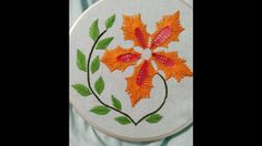 Beautiful hand embroidery with only one basic stitch