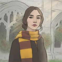 """artaime: """"a young minerva mcgonagall 🌙 - suggested by a lovely anon """" Fanart Harry Potter, Harry Potter Artwork, Harry Potter World, Draco, Hermione, Harry Potter Lufa Lufa, Avatar, Hogwarts Mystery, Albus Dumbledore"""