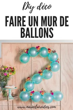 DIY: Flowery balloon garland- DIY: Blumige Ballongirlande Carnations and balloons DIY wall decoration Tollwasblumemach … - Diy Birthday Decorations, Balloon Decorations Party, Balloon Garland, Flower Balloons, Balloon Balloon, 2nd Birthday Parties, Birthday Balloons, Baby Birthday, Birthday Ideas
