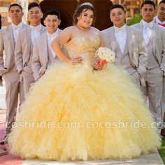 Awesome Sweetheart Tulle Ball Gown Quinceanera Dress - Sites new Tulle Balls, Tulle Ball Gown, Ball Gowns, Chambelanes, Sweet 15 Dresses, Pretty Dresses, Dress Sites, Quinceanera Dresses, Quinceanera Ideas