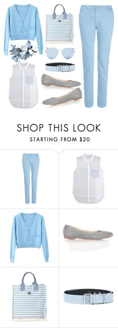"""""""Light Blue Style"""" by fsjamazon ❤ liked on Polyvore featuring dVb Victoria Beckham, 3.1 Phillip Lim, WithChic, Barbour, Y/Project and Quay"""
