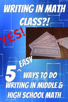 Blog post with suggestions for easy ways to get your students writing in math…