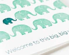 Sycamore Street Press - Welcome Big World. Baby Card