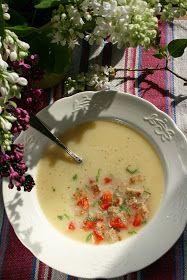 sio-smutki! Monika od kuchni: Zupa z cukinii z koprem włoskim Cheeseburger Chowder, Fondue, Vegetarian, Favorite Recipes, Ethnic Recipes