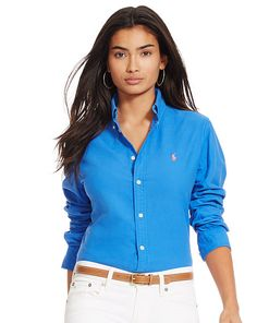 f6d149c2c60c7 Slim-Fit Poplin Shirt - Polo Ralph Lauren Shirts   Blouses - RalphLauren.com