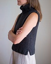 Sloper: Basic pattern for a sleeveless sweater - Fringe Association How to improvise a top-down sweater, Part Casting on and marking raglans – Fringe Association Sweater Knitting Patterns, Knit Patterns, Clothing Patterns, Finger Knitting, Free Knitting, Knitting Ideas, Ärmelloser Pullover, Templer, Fingerless Mitts
