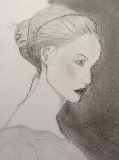 Desenho figura humana em perfil