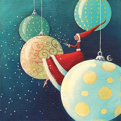 """Christmas Balls"" - by Marie Cardouat"