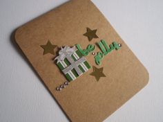 Handmade Christmas Card by ScrappyNan on Etsy, $4.50