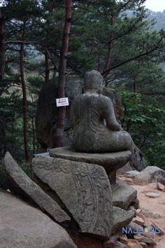 나정문화사 :: 서남산, 삼릉계곡 석조여래좌상 Gyeongju, Architecture Old, Buddhism, Bodies, Garden Sculpture, Reflection, Tower, Korean, Statue