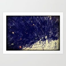 The universe that I draw for you Art Print