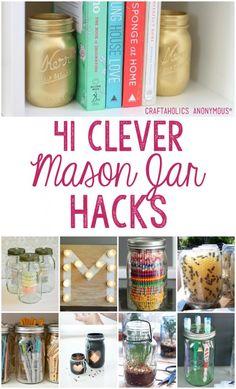 41 Clever Mason Jar Hacks | Craftaholics Anonymous®