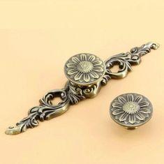 antique bronze flower dresser knobs drawer pulls knobs handles