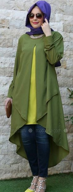 Stylish Hijab, Casual Hijab Outfit, Casual Outfits, Islamic Fashion, Ethnic Fashion, Retro Fashion, Abaya Fashion, Modest Fashion, Fashion Dresses