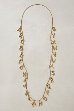 Alphabet Necklace-why must you cost $600???  :(