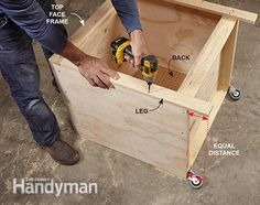 Convertible Miter Saw Station Plans