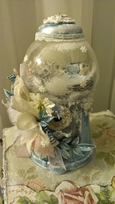 Kitty'sScrapPost: Winter Themed Shabby Chic Gumball Machine