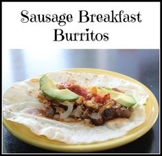 This is a guide about sausage breakfast burritos. A good breakfast is the best way to start the day. Sausage breakfast burritos are a fast, healthy and tasty breakfast option. Make Ahead Breakfast Burritos, Breakfast Bake, Sausage Breakfast, Best Breakfast, How To Cook Sausage, Breakfast Options, Vegetarian Breakfast, Cooking Recipes, Chocolate Sorbet