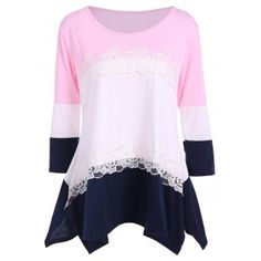 SHARE & Get it FREE | 3/4 Sleeve Color Block T ShirtFor Fashion Lovers only:80,000+ Items·FREE SHIPPING Join Dresslily: Get YOUR $50 NOW!