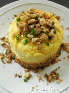 Cheesecake au céleri rave, noix et noisettes