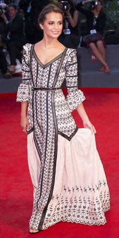 The Best of the 2015 Venice International Film Festival Red Carpet - Alicia Vikander - from InStyle.com